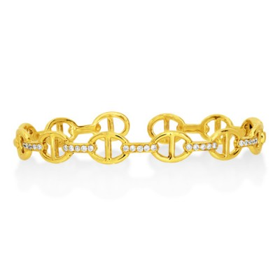 Nayum Diamond Bangle in 18Ct. Yellow Gold