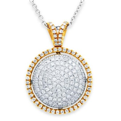 Nayum Diamond Pendant in 18Ct. Yellow Gold
