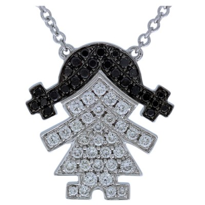 Nayum Diamond Pendant in 18Ct. White Gold