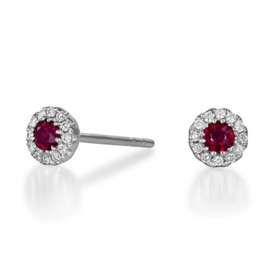 18Ct. Gold Ruby Earrings