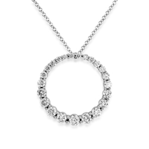 18Ct. White Gold Diamond Pendant