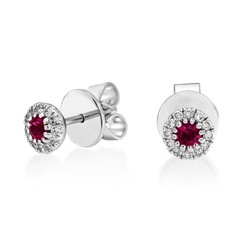 18Ct. Gold Ruby and Diamond Earrings