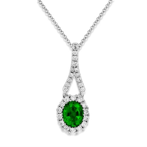 18Ct. Gold Emerald Pendant