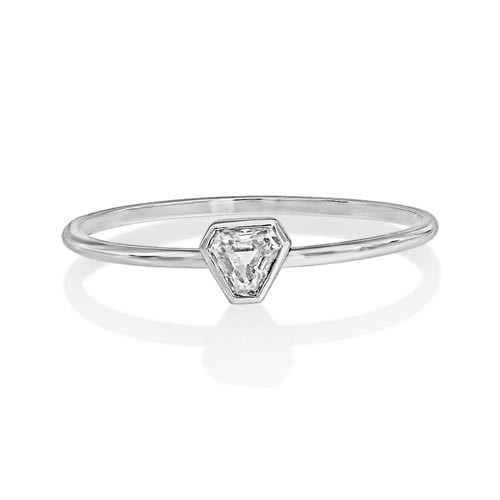 0.18ct. diamond ring set with diamond in solitaire ring smallest Image