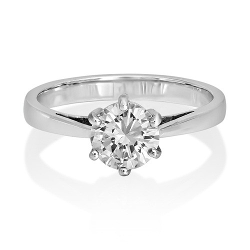 1ct. diamond ring set with diamond in solitaire ring smallest Image