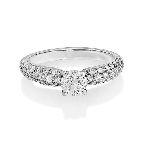 0.34ct. diamond ring set with diamond in shoulder set ring smallest Image