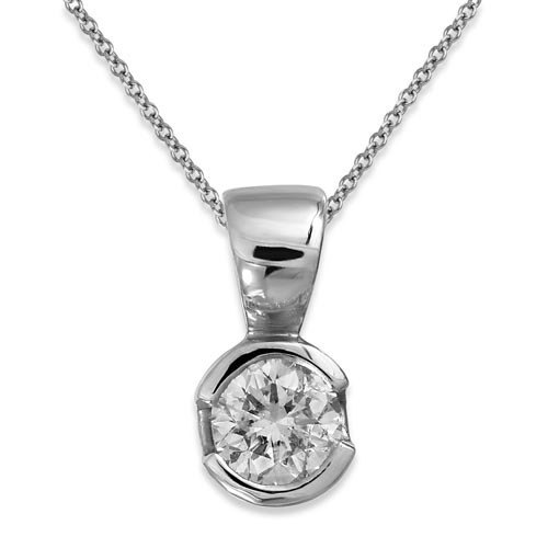 0.24ct. diamond pendant set with diamond in solitaire pendant smallest Image