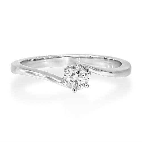 0.31ct. diamond ring set with diamond in solitaire ring smallest Image