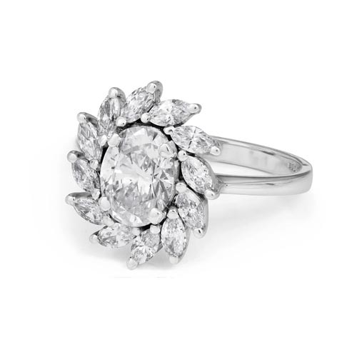 2.35ct. diamond ring set with diamond in cluster ring smallest Image