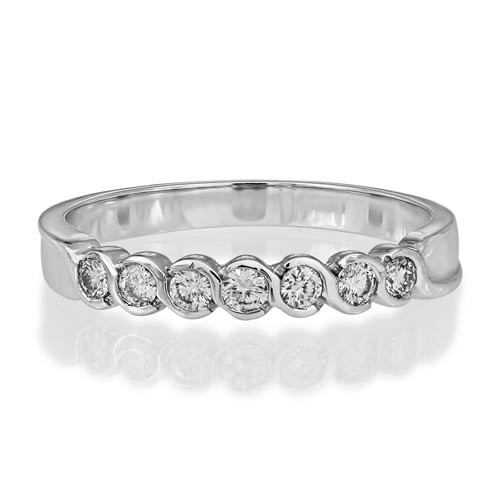 0.23ct. diamond ring set with diamond in eternity ring smallest Image