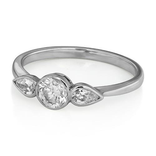 0.88ct. diamond ring set with diamond in three stone ring smallest Image