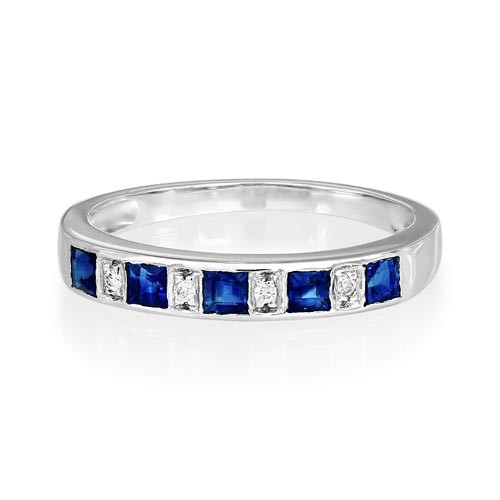 sapphire ring 0.48ct. set with diamond in eternity ring smallest Image