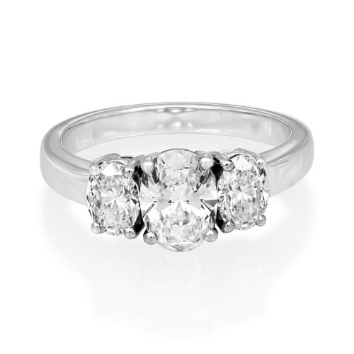1.92ct. diamond ring set with diamond in three stone ring smallest Image