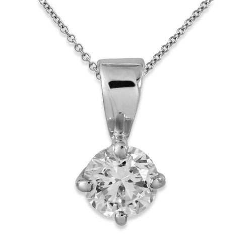 0.32ct. diamond pendant set with diamond in solitaire pendant smallest Image