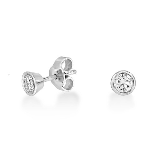 0.29ct. diamond earrings set with diamond in solitaire earrings smallest Image