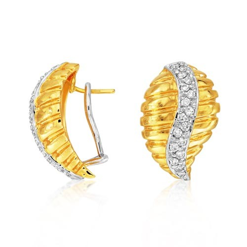 0.77ct. diamond earrings set with diamond in fancy earrings smallest Image