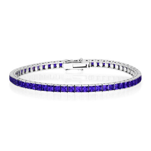 9ct. amethyst bracelet set in tennis bracelet smallest Image