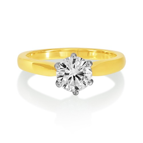1.03ct. diamond ring set with diamond in solitaire ring smallest Image