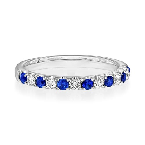 sapphire ring 0.32ct. set with diamond in eternity ring smallest Image