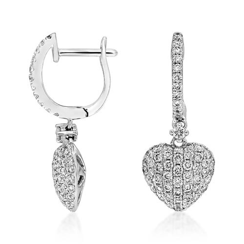 0.95ct. diamond earrings set with diamond in drop earrings smallest Image
