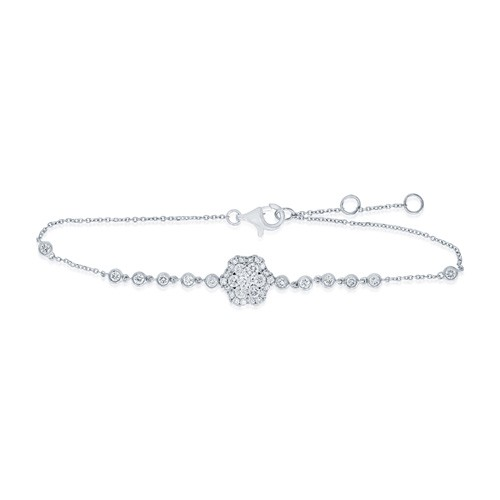 0.72ct. diamond bracelet set with diamond in line bracelet smallest Image