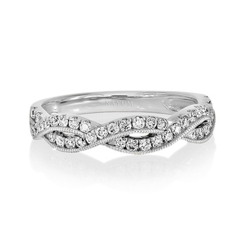 0.34ct. diamond ring set with diamond in fancy ring smallest Image