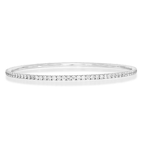 4.02ct. diamond bangle set with diamond in line bangle smallest Image