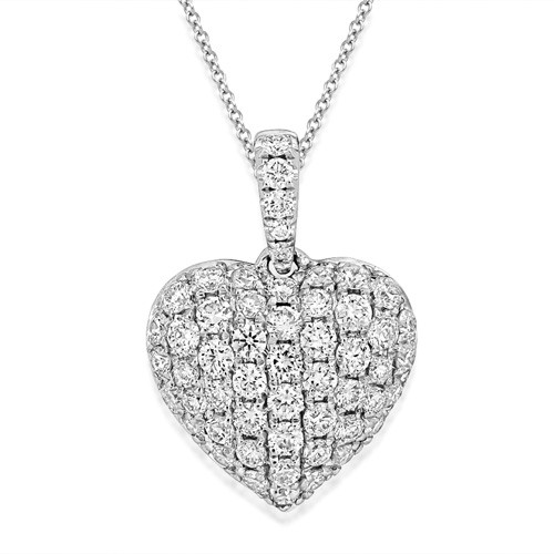 0.55ct. diamond necklace set with diamond in cluster necklace smallest Image