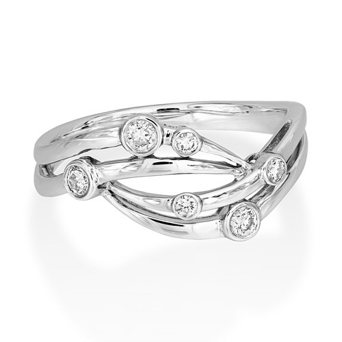 0.18ct. diamond ring set with diamond in fancy ring smallest Image