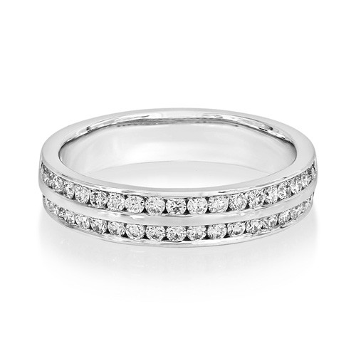 0.5ct. diamond ring set with diamond in eternity ring smallest Image