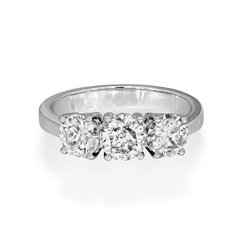1.74ct. diamond ring set with diamond in three stone ring smallest Image