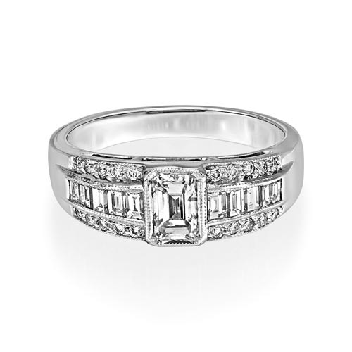 1.13ct. diamond ring set with diamond in wide band ring smallest Image