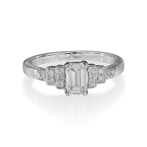 0.82ct. diamond ring set with diamond in shoulder set ring smallest Image