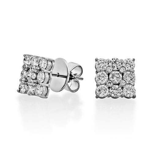 1.79ct. diamond earrings set with diamond in cluster earrings smallest Image