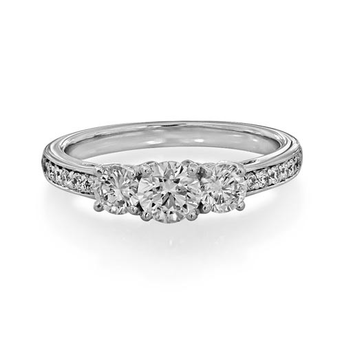 1.17ct. diamond ring set with diamond in three stone ring smallest Image