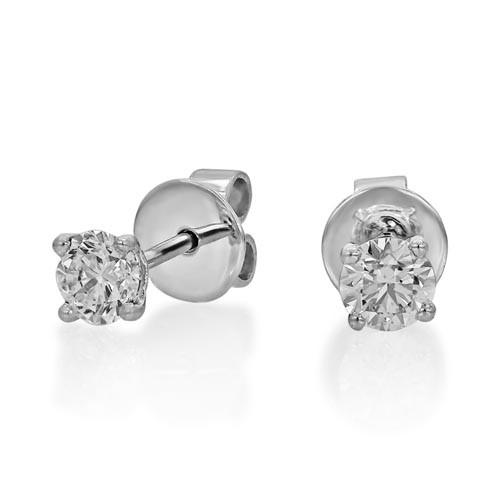 0.76ct. diamond earrings set with diamond in solitaire earrings smallest Image