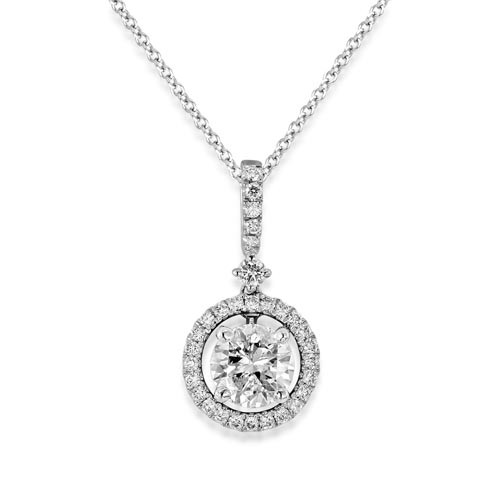 1.04ct. diamond pendant set with diamond in cluster pendant smallest Image