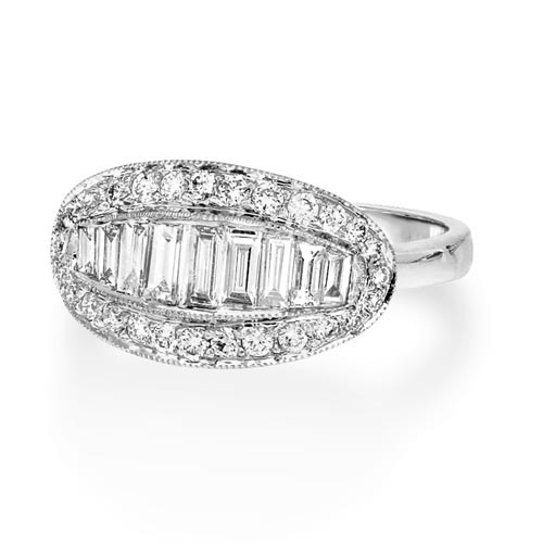 0.76ct. diamond ring set with diamond in vintage ring smallest Image