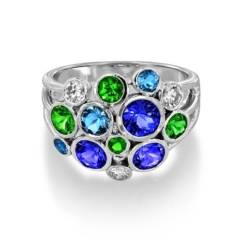 multi stone ring 2.37ct. set with diamond in fancy ring smallest Image