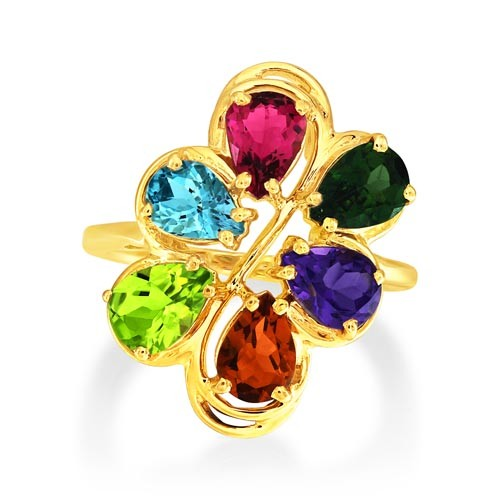 3.79ct. multi stone ring set in fancy ring smallest Image