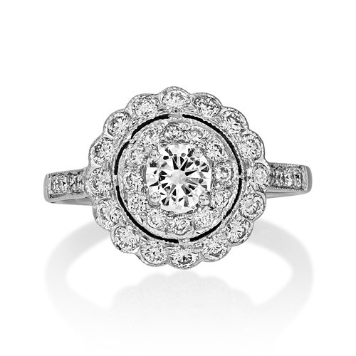1ct. diamond ring set with diamond in vintage ring smallest Image