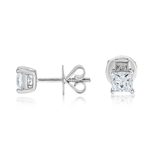 0.5ct. diamond earrings set with diamond in solitaire earrings smallest Image