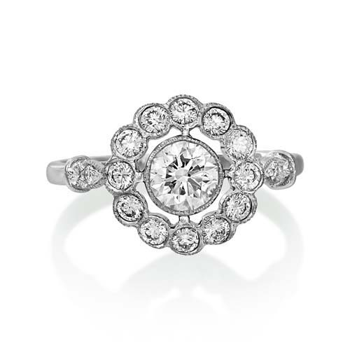 0.84ct. diamond ring set with diamond in vintage ring smallest Image