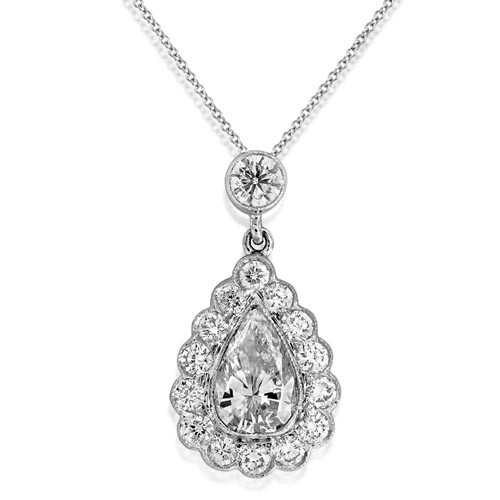 1.2ct. diamond pendant set with diamond in cluster pendant smallest Image
