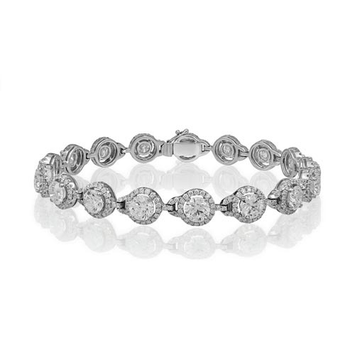10.62ct. diamond bracelet set with diamond in cluster bracelet smallest Image