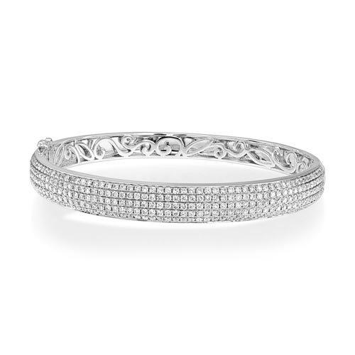 3.4ct. diamond bangle set with diamond in bangle bangle smallest Image