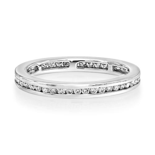 0.43ct. diamond ring set with diamond in eternity ring smallest Image