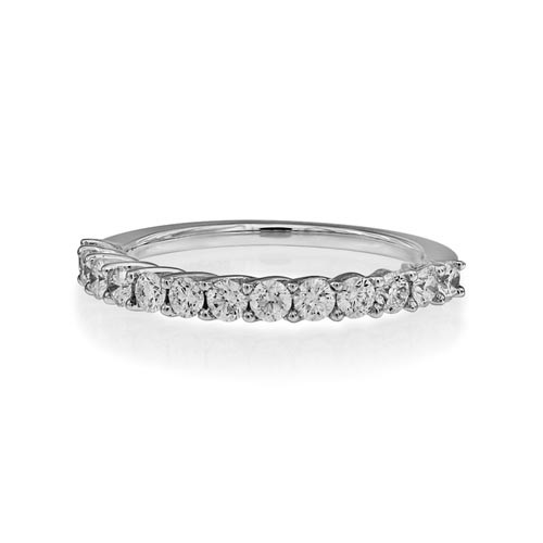 0.64ct. diamond ring set with diamond in eternity ring smallest Image