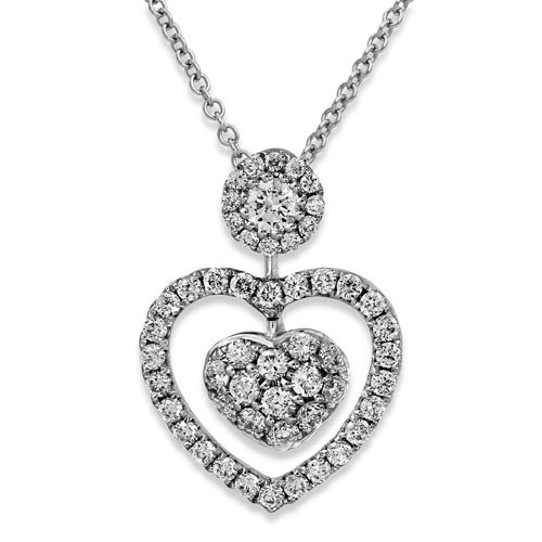 0.44ct. diamond pendant set with diamond in cluster pendant smallest Image