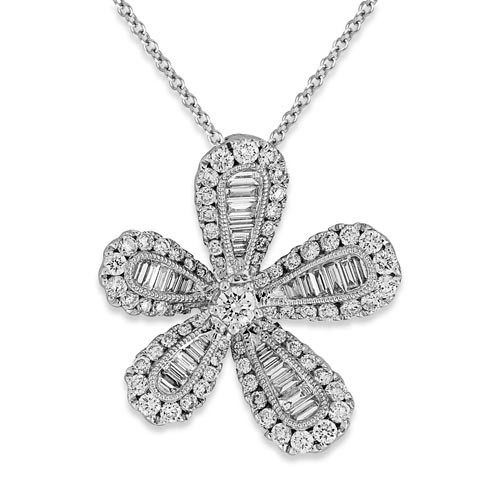 0.81ct. diamond pendant set with diamond in cluster pendant smallest Image